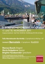 2. Symphoniekonzert - Tiroler Symphonie Orchester Innsbruck