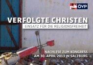 Verfolgte Christen - ÖVP Parlamentsklub