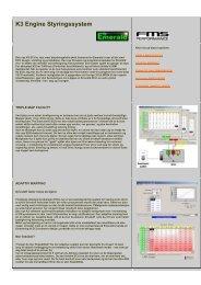 K3 Engine Styringssystem INFO-Norsk - Flissundet Motorservice AS