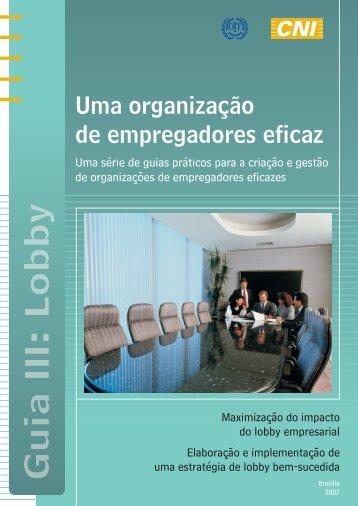 Guia III – Lobby - Organização Internacional do Trabalho
