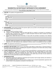 Resid. Buyer/Tenant Rep. Agreement - 04/14/06