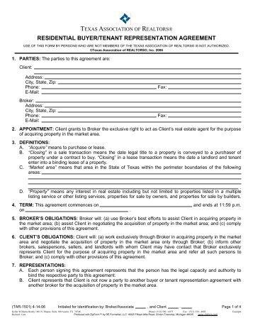 Sample Buyer Agency Agreement Propertyware