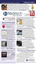 July Issue - H and B Recordings Direct