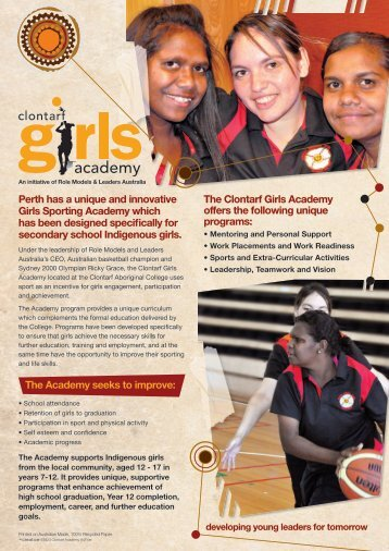 Clontarf Girls Academy brochure (1.68 mb)