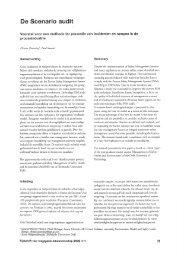 De scenario audit; Voorstel voor een methode ter preventie van ...