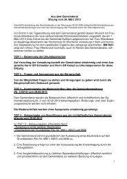 Protokoll vom 20.März 2013 - Nußloch