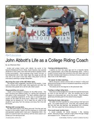 John Abbott's Life as a College Riding Coach - Sidelines Magazine