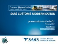 Update on Modernisation Initiatives at SARS - MCLI