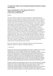 A Comparative Study on the Technology Education Programs in Japan