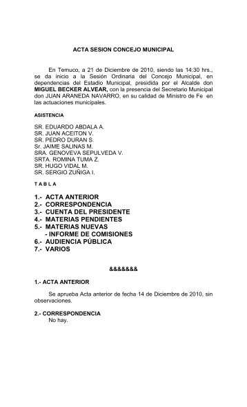 ACTA COMISION VIVIENDA - Temuco