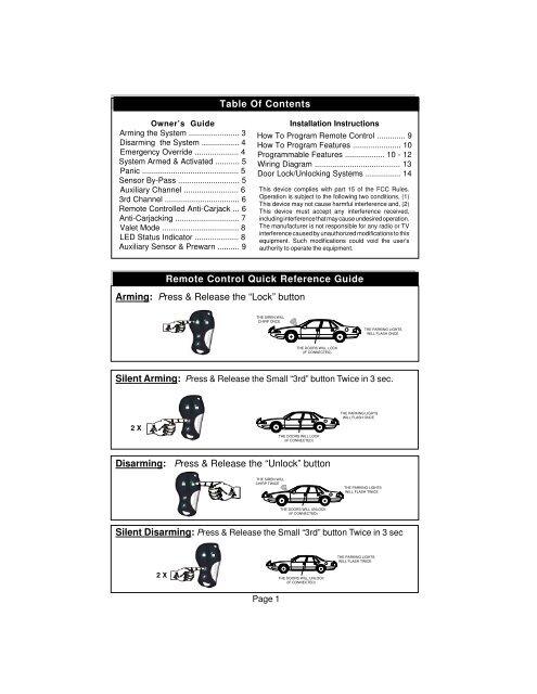 excalibur-500 manual (# 448 03-ei tx's) p65 - car
