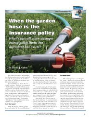 When the garden hose is the insurance policy - cook collection ...
