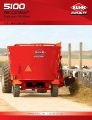 5100 Series Single Auger Vertical Maxx TMR Mixers - Kuhn North ...