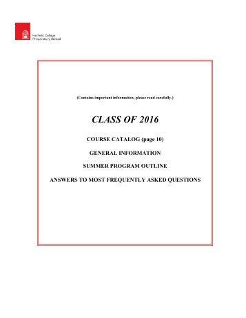 CLASS OF 2016 - Fairfield College Preparatory School