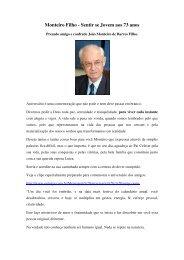 Monteiro Filho - Sentir se Jovem aos 73 anos - Outorga.com.br