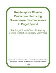 Roadmap for Climate Protection - Puget Sound Clean Air Agency