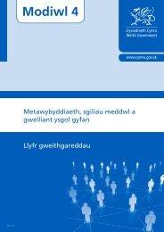 Metawybyddiaeth, sgiliau meddwl a gwelliant ... - Learning Wales