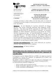 PROGRAMME LOCAL DE L'HABITAT : BILAN 2011 ... - CCPRO