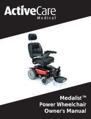 Medalist Power Wheelchair Owner's Manual