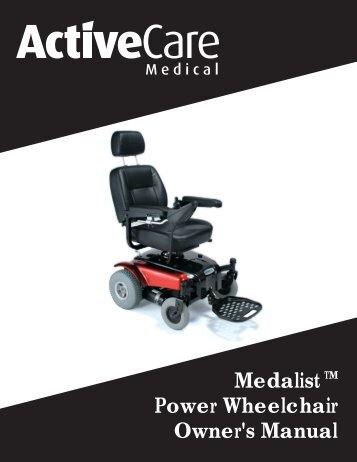 Medalist Power Wheelchair Owner's Manual