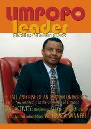 Limpopo Leader 10 -inside - University of Limpopo