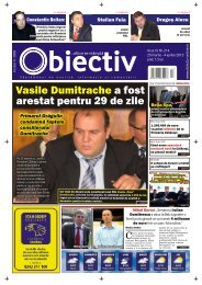 Vasile Dumitrache a fost arestat pentru 29 de zile - Obiectiv