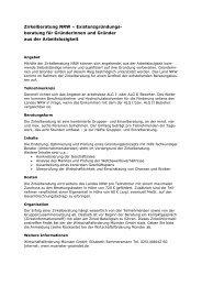 beratung für Gründerinnen und Gründer aus der Arbeitslosigkeit