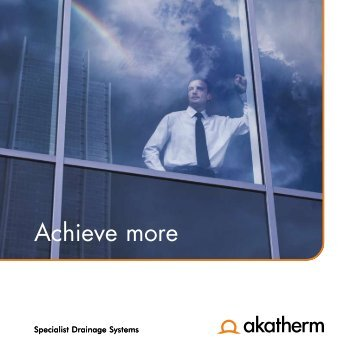 Akatherm specialist drainage systems