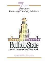 to view last year's Fall Forum Program - Buffalo State College ...