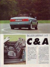 Prenesi PDF testa Audi Audi Cabriolet 2.8 E - Avto Magazin