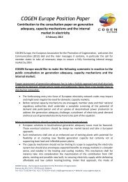 COGEN Europe Position Paper - Contribution to the consultation ...