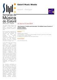 Programme card 2010 (pdf) - European Festivals Association