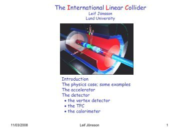The International Linear Collider - Particle Physics