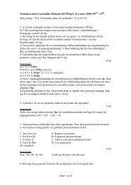 Tentamen med svarsmallar Biokemi KE7001p3, 22:e mars 2005, 09 ...