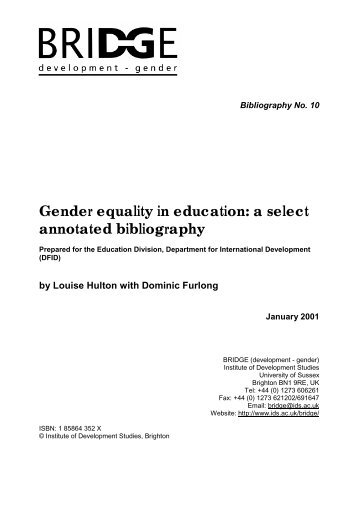 an annotated bibliography on the switch in gender roles Institutionalized resistance to organizational change: annotated bibliography galen college of more about annotated bibliography on the role of feminism.