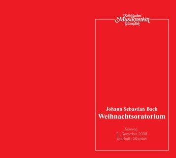 Johann Sebastian Bach - Städischer Musikverein Gütersloh e.V.