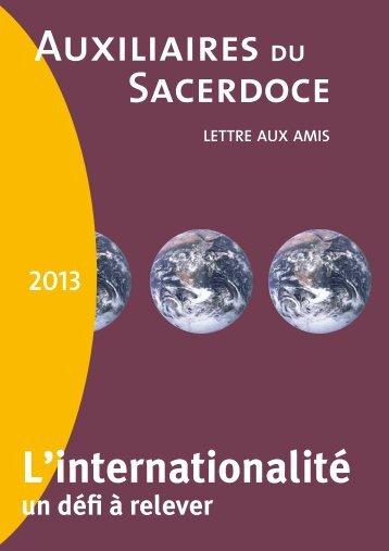 LETTRE 2013 - Le site des auxiliaires du Sacerdoce