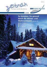 So kommen Sie gesund durch die Winter - BKK Werra-Meissner