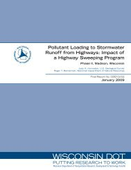 Pollutant Loading to Stormwater Runoff from Highways - WisDOT ...