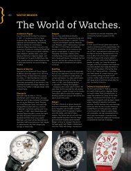The World of Watches. - One World Publications