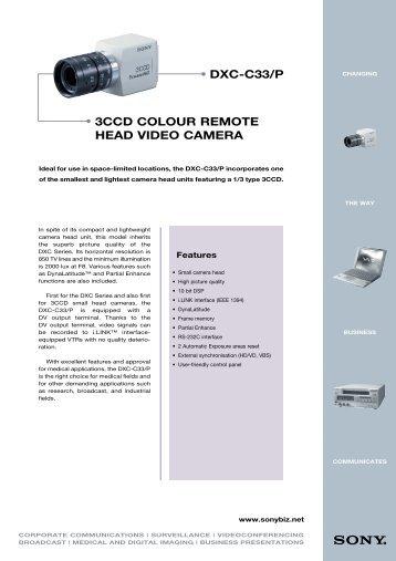 DXC-C33/P 3CCD COLOUR REMOTE HEAD VIDEO CAMERA