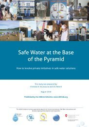 Safe Water at the Base of Pyramid - Aqua for All