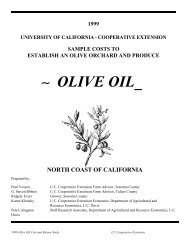 OLIVE OIL - University of California Cooperative Extension