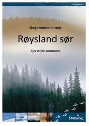 Pakket vedlegg til salgsoppgave - Statskog