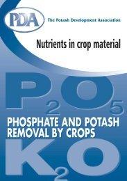 Phosphate and Potash Removal by Crops - Potash Development ...