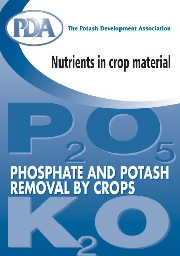 Phosphate and Potash Removal by Crops - Potash Development ...