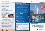Flyer Dubaireise - VR Bank eG, Niebüll