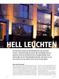 Alle Jahre wieder rangiert das Hotel Bad Bubendorf ... - hoteljournal.ch