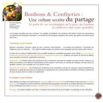 Bonbons & confiseries et sociologie