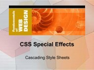 CSS Special Effects - Elktech.org